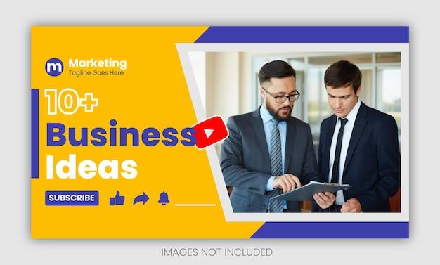 Streszczenie biznesowa miniatura youtube design