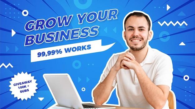 Streszczenie biznesowa miniatura youtube