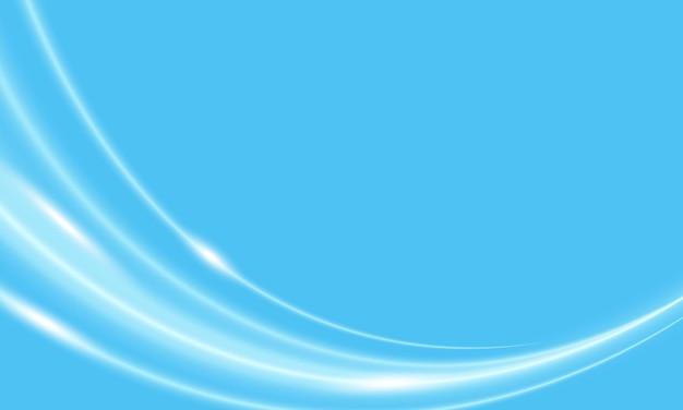 Streszczenie błyszczące linie krzywej na niebieskim tle. nowa krzywa projektu banera.