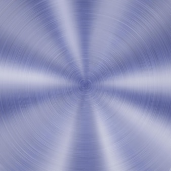 Streszczenie błyszczące metalowe tło z okrągłą szczotkowaną teksturą w kolorze niebieskim