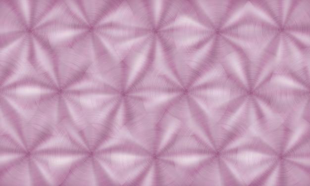 Streszczenie błyszczące metalowe tło z okrągłą szczotkowaną teksturą w różowych kolorach