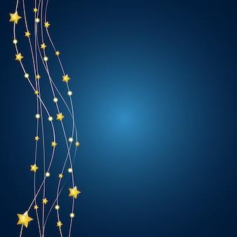 Streszczenie błyszczące tło gwiazdy. ilustracji wektorowych