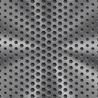 Streszczenie błyszczące tło metalowe w kolorze srebrnym z okrągłą szczotkowaną teksturą