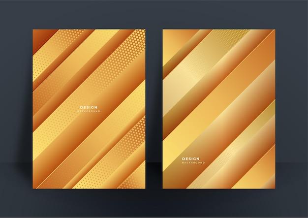 Streszczenie błyszczące złote tło z wielokątną luksusową teksturą wzoru dla szablonu projektu okładki