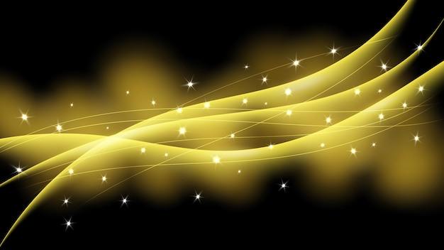 Streszczenie błyszczącym tle fala z efektami gwiazd, błyszczy i brokatu. ilustracja wektorowa