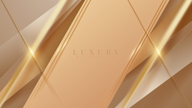 Streszczenie brązowy i złoty ukośnej linii luksusowe tło.