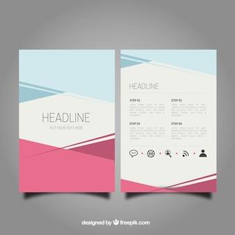 Streszczenie broszura szablonu