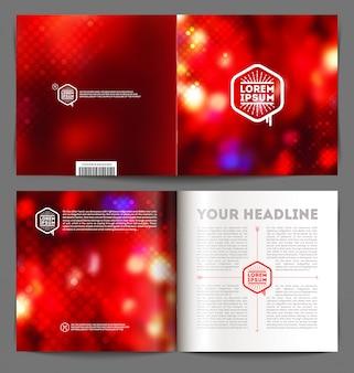 Streszczenie broszury z szablonami - okładka i strony wewnętrzne
