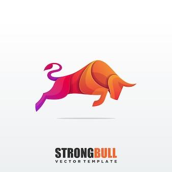 Streszczenie bull kolorowy szablon wektor premium