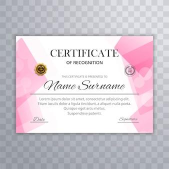 Streszczenie certyfikat szablon wektor
