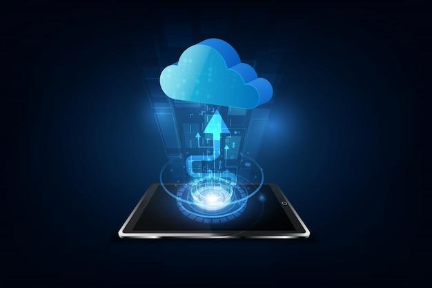 Streszczenie chmura technologia system sci fi tło