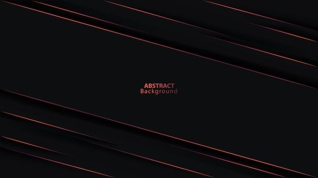 Streszczenie ciemne czarne tło na czerwonej linii fioletowej