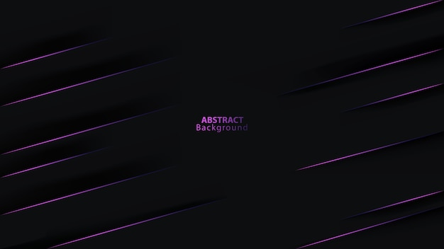 Streszczenie ciemne czarne tło na fioletowych liniach