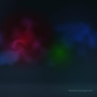Streszczenie ciemne kolorowe tło świecące wielobarwny dym ilustracji wektorowych