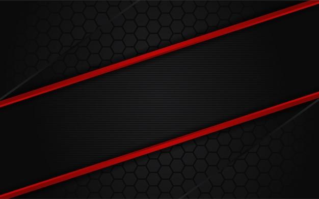 Streszczenie ciemne tło z czerwoną linią
