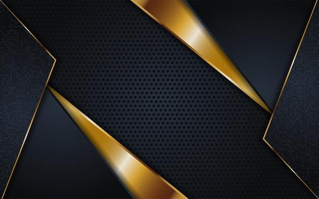 Streszczenie ciemne złote linie z nakładającymi się teksturą tle