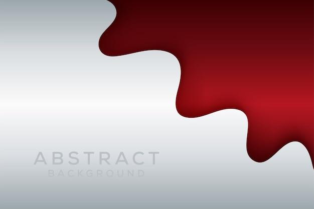 Streszczenie ciemnoczerwony styl papercut i biały metaliczny baner