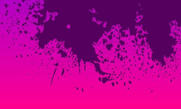 Streszczenie ciemnofioletowy spray malowane na fioletowym tle gradientowym. projekt banera.