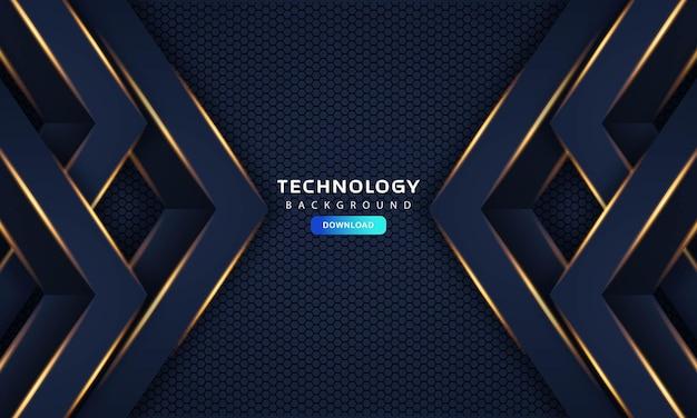 Streszczenie ciemnoniebieska rama luksusowa koncepcja projektowania innowacji tło