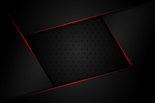 Streszczenie ciemnoszary z czerwonym światłem linii na puste miejsce projektowania nowoczesnego luksusowego futurystycznego tła