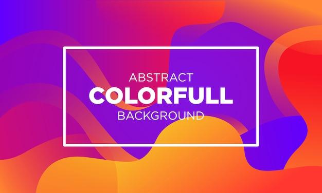 Streszczenie colorfull gradient fluid bakground szablony