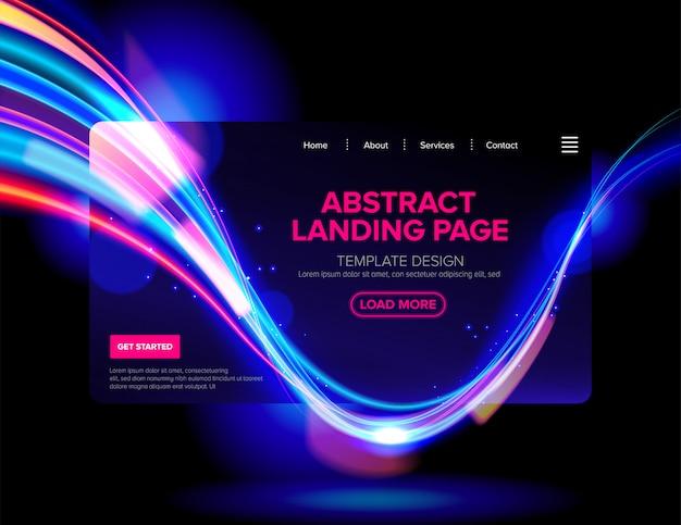 Streszczenie cyberpunk landing page