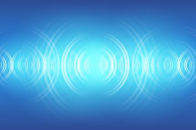 Streszczenie cyfrowa fala dźwiękowa