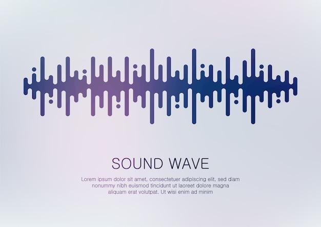Streszczenie cyfrowa fala dźwiękowa.