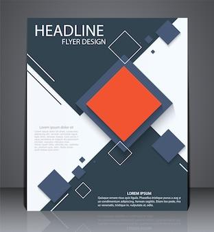 Streszczenie cyfrowy biznes broszura lub ulotka
