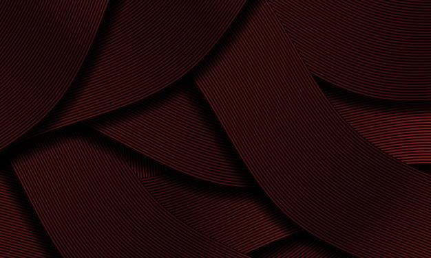 Streszczenie czarna czerwona wstążka linia nakładania się wzór luksusowy projekt kreatywny tło tekstura wektor