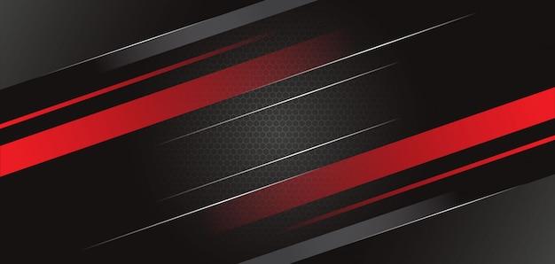 Streszczenie czarne czerwone tło szablonu