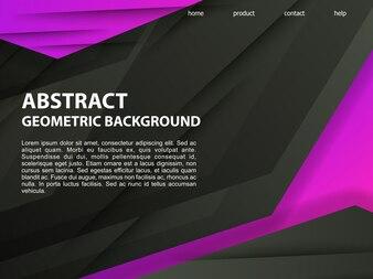 Streszczenie czarne fioletowe tło geometryczne