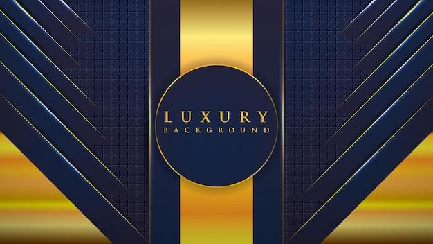 Streszczenie czarne i złote geometryczne tło z luksusem