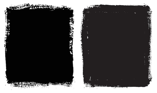 Streszczenie czarne ręcznie malowane ramki