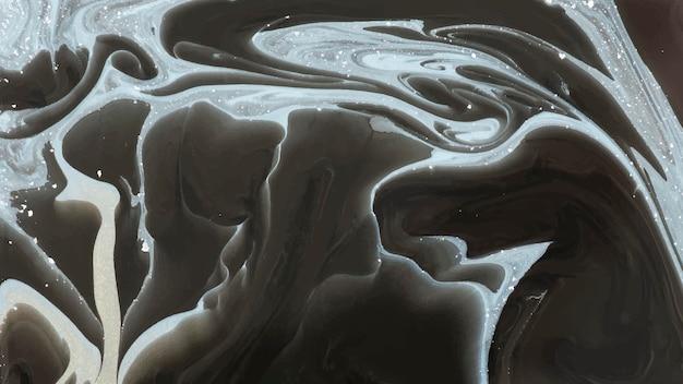 Streszczenie czarne tło akwarela