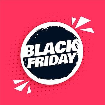 Streszczenie czarne tło piątek do sprzedaży i promocji