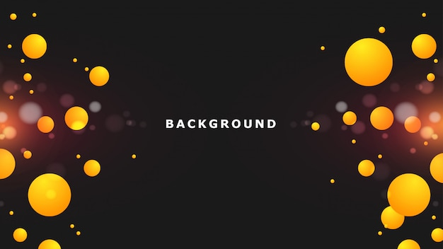 Streszczenie czarne żółte tło