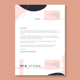 Streszczenie czarno-różowy list motywacyjny