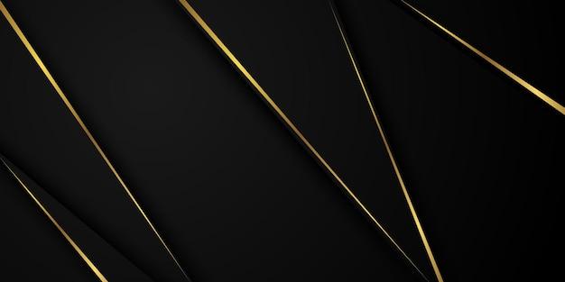 Streszczenie czarno -złoty wzór i tło plakat z dynamicznymi falami. ilustracja wektorowa.