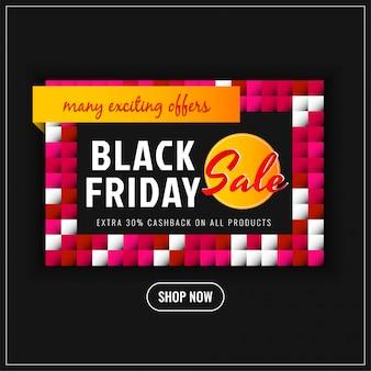 Streszczenie czarny piątek sprzedaż promocja tło