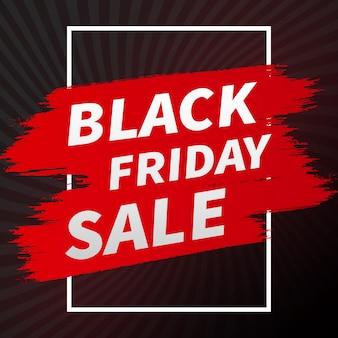 Streszczenie czarny piątek sprzedaż transparent