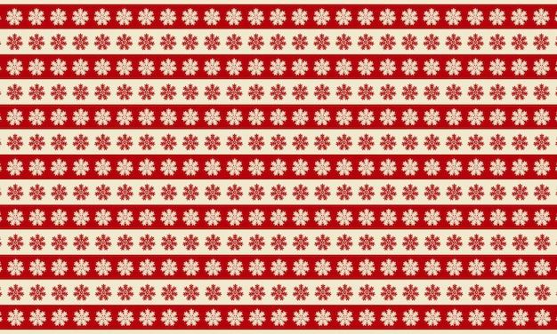 Streszczenie czerwone i białe płatki śniegu w tło wzór. projekt na poduszkę
