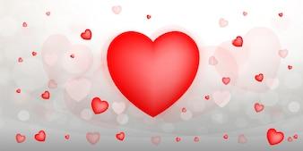 Streszczenie czerwone serce tło.