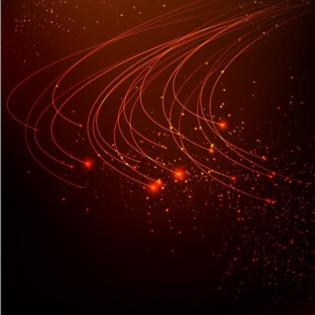 Streszczenie czerwone światła w tle