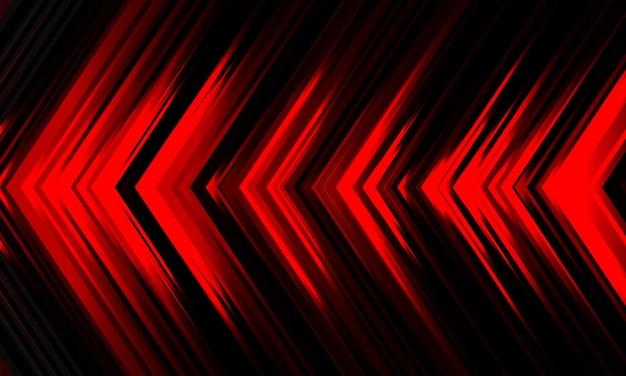 Streszczenie czerwone światło strzałka kierunek prędkość moc czarny wzór na czarnej futurystycznej technologii