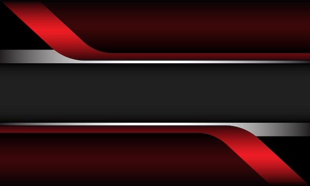 Streszczenie czerwony metaliczny srebrny geometryczny szary nowoczesny luksusowy futurystyczny tło