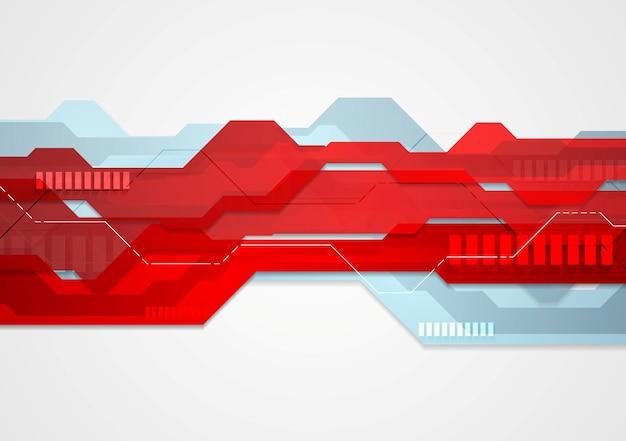 Streszczenie czerwony niebieski tech geometrycznej ilustracja. projekt szablonu sieci web wektor