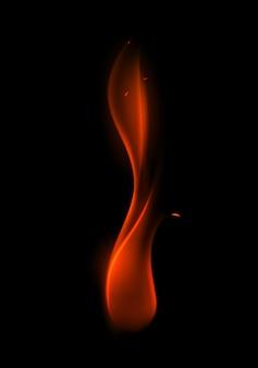 Streszczenie czerwony płomień ognia na tle