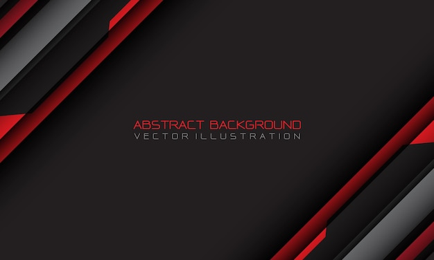 Streszczenie czerwony szary cyber geometryczny slash z pustą przestrzenią i tekstem projektuje nowoczesne futurystyczne tło
