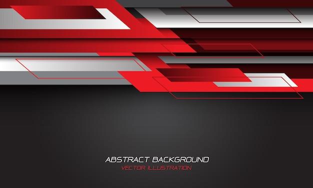 Streszczenie czerwony szary geometryczny pusty projekt nowoczesne futurystyczne tło.